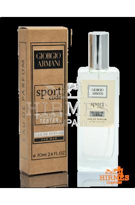 Парфюмированная вода Giorgio Armani Code Sport Exclusive Tester 70 ML