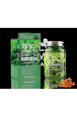 Ампульная сыворотка Farm stay 76 Green Tea Seed All-In-One Ampoule с семенами зелёного чая