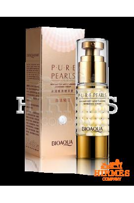Крем-сыворотка для кожи вокруг глаз Bioaqua Pure Pearls с экстрактом жемчуга и коллагеном