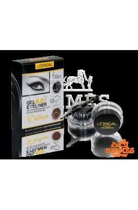 Набор гелевых подводок для глаз и бровей L`oreal Gel eyeliner 2 in 1