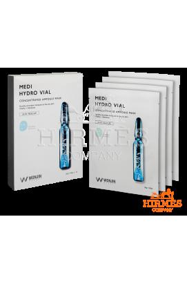 Тканевая маска Medi Hydro Vial Concentrated Ampoule Mask с гиалуроновой кислотой ( 10 штук)