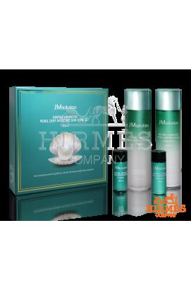 Набор для глубокого увлажнения кожи с экстрактом жемчуга JMsolution Marine Luminous Pearl Deep Moisture Skin Care Set ( качество оригинала) в мятой упаковке