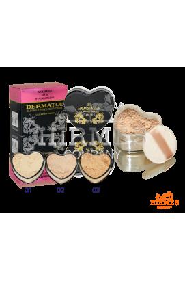 Рассыпчатая пудра Dermatol Silky White Translucent Powder (Сердечко)