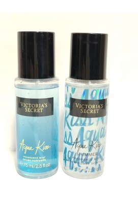 Подарочный набор Victoria`s Secret I Love Shimmer Aqua Kiss ( Мист и Спрей-Шиммер) БЕЗ УПАКОВКИ